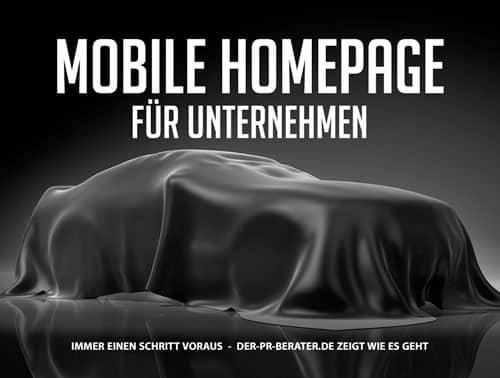 Mobile Homepage für Unternehmen
