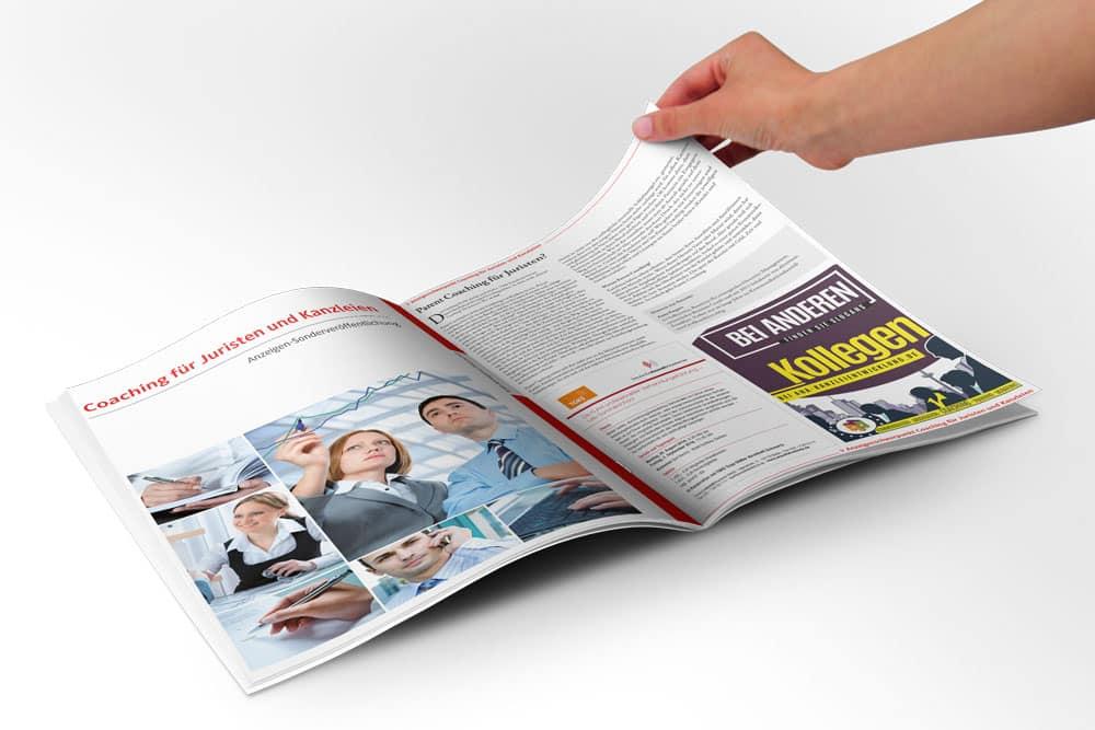 aHa Anzeigen-Design im Magazine
