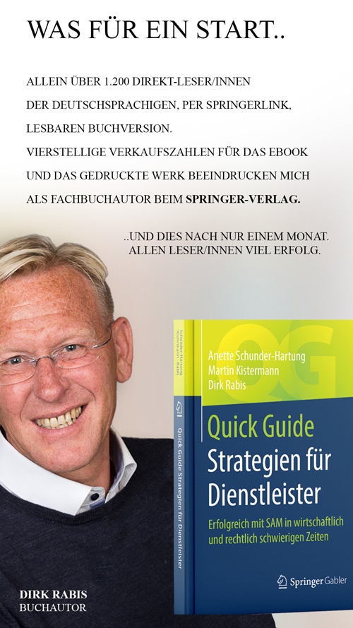 Buchautor Dirk Rabis zu seinem Buch Strategien für Dienstleister beim Springerverlag