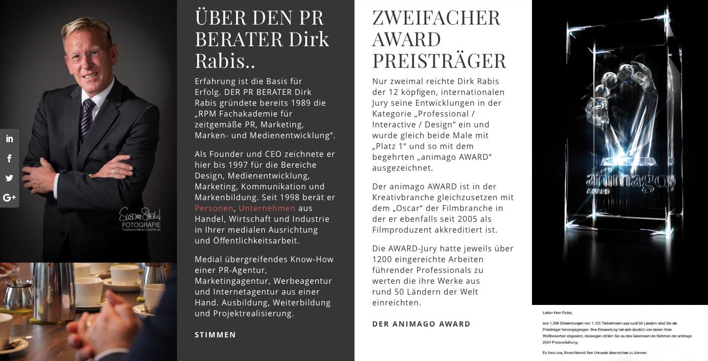 Vita: DER PR-BERATER Dirk Rabis - DER PR BERATER HESSEN