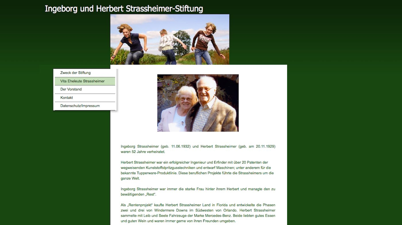 Vita der Ingeborg und Herbert Strassheimer Stiftung