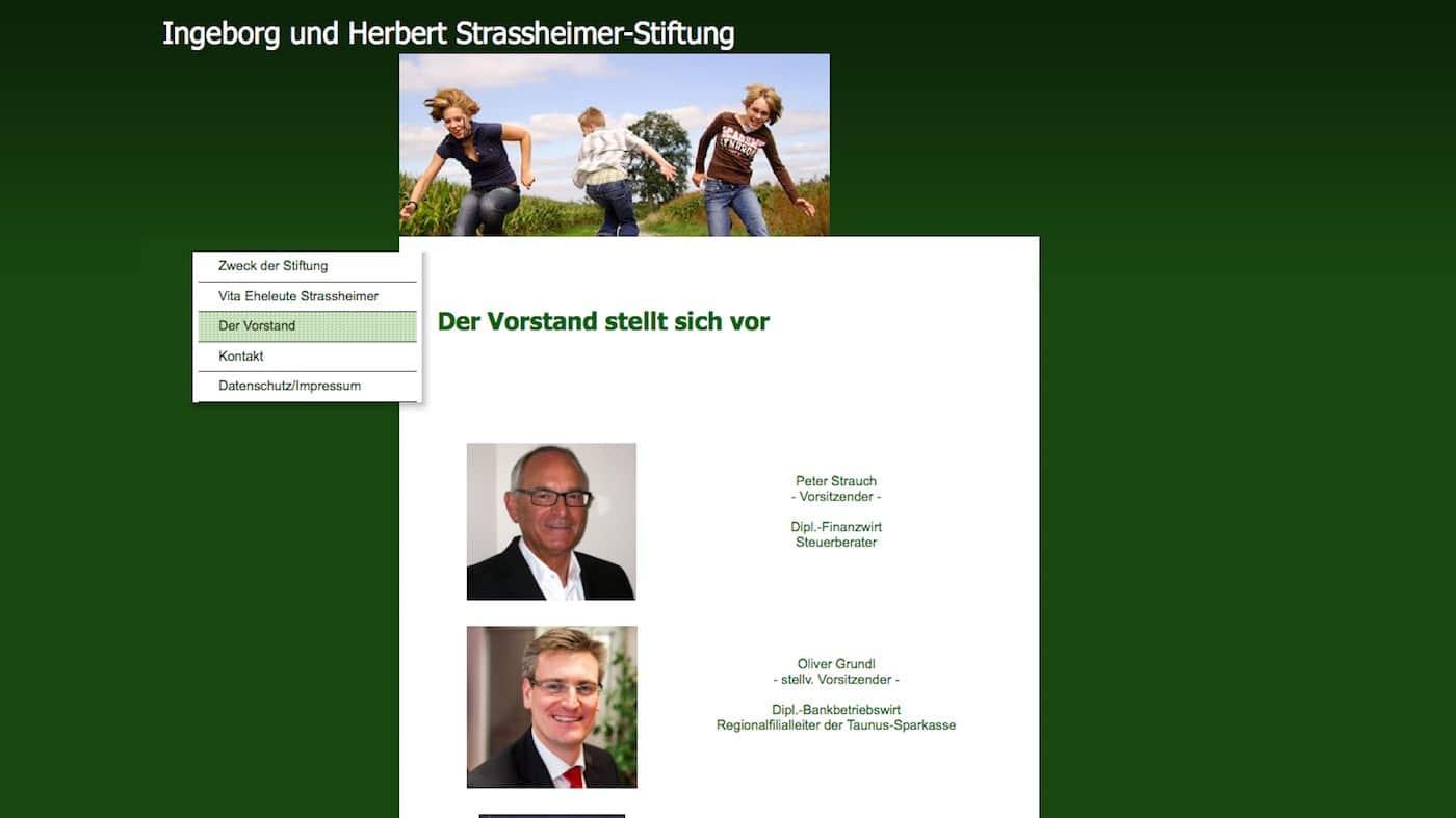 Vorstand der Ingeborg und Herbert Strassheimer Stiftung